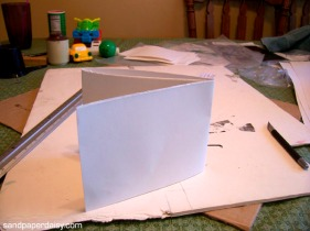 As you can see I have an incredibly exact method for measuring out 8x10 inch sections of paper for printing.