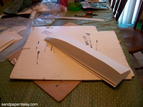 I used the same method to measure out 5x7 inch sections.