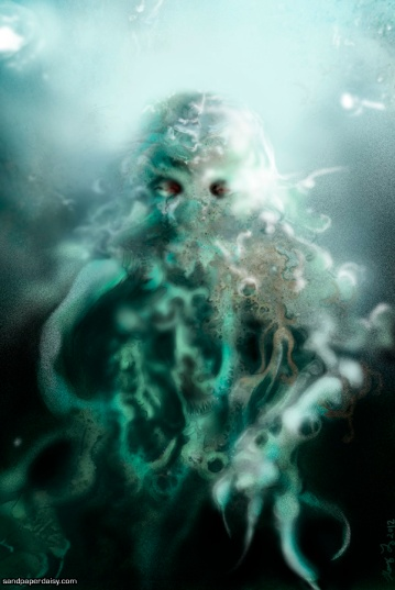In his house at r'lyeh, dead cthulhu waits dreaming in this sinister undersea depiction of the Great Old One.