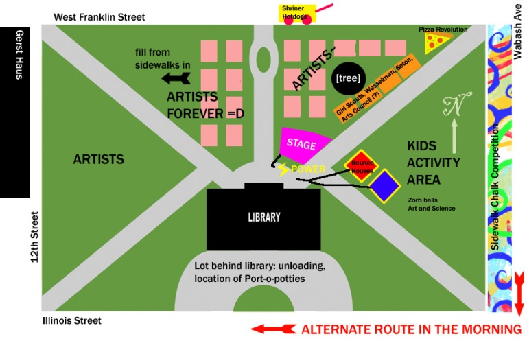 WEST BRANCH LIBRARY plan
