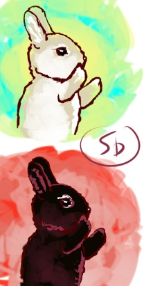 bunnies by sandpaperdaisy