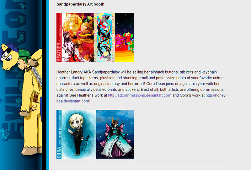 sandpaperdaisy and cora dean to sell at evillecon 2014 artist alley