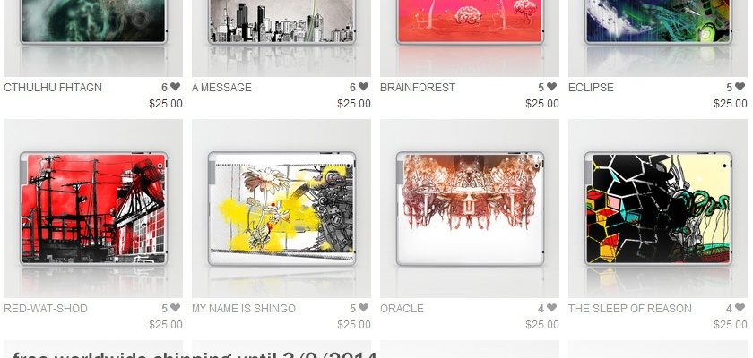 free worldwide shipping on sandpaperdaisy's society6 shop