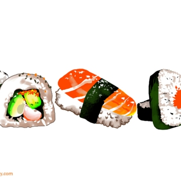 SUSHI by sandpaperdaisy