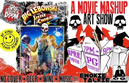 the big lebowski in little china mashup art show at PG April 19