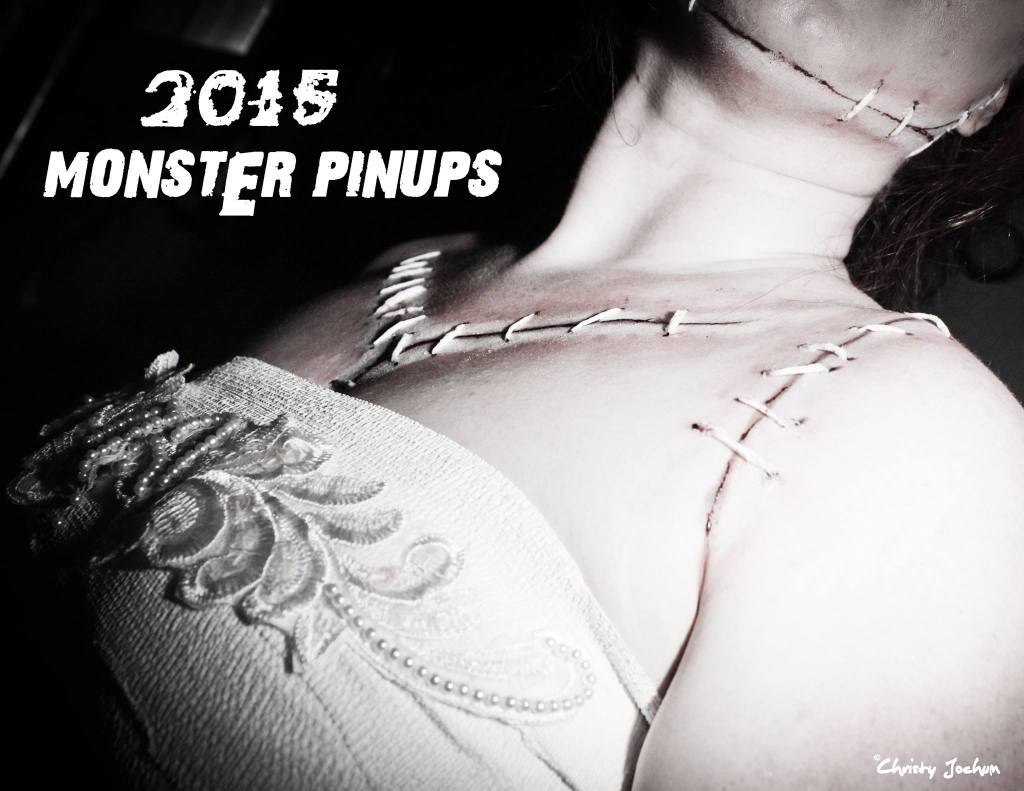 Christy Jochum 2015 Monster pin-up calender cover
