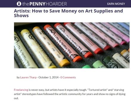 Tips and tricks from Heather Landry AKA Sandpaperdaisy on saving money as an artist