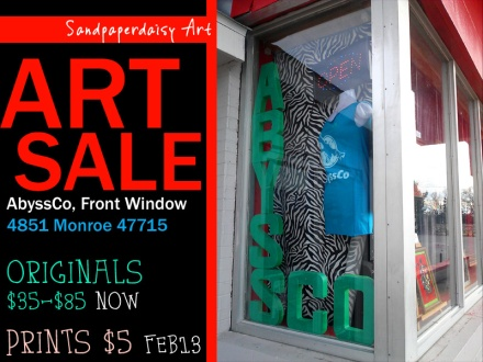 Sandpaperdaisy Art SALE at AbyssCo banner