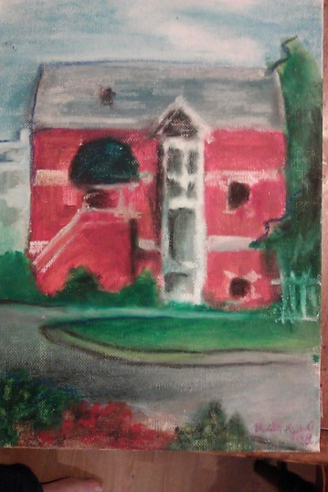 """""""View from the Riverfront,"""" detail"""