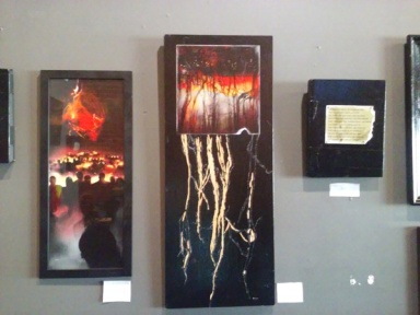 """""""Hour by Hour"""" (center) was created using imagery from """"Endless Forest"""" and """"War Angels."""""""