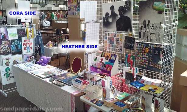 Evillecon booth_sandpaperdaisy