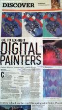 Newspaper article UE Digital Painters Show_sandpaperdaisy