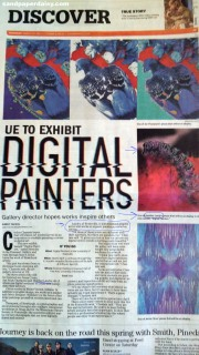 Newspaper article UE Digital Painters Show_sandpaperdaisy