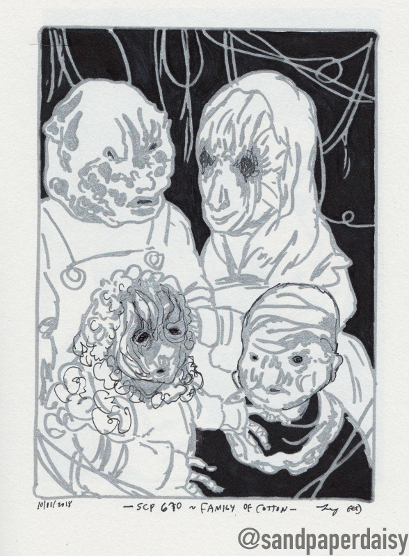 inktober28d_SCP670-Cotton-Family_sandpaperdaisy