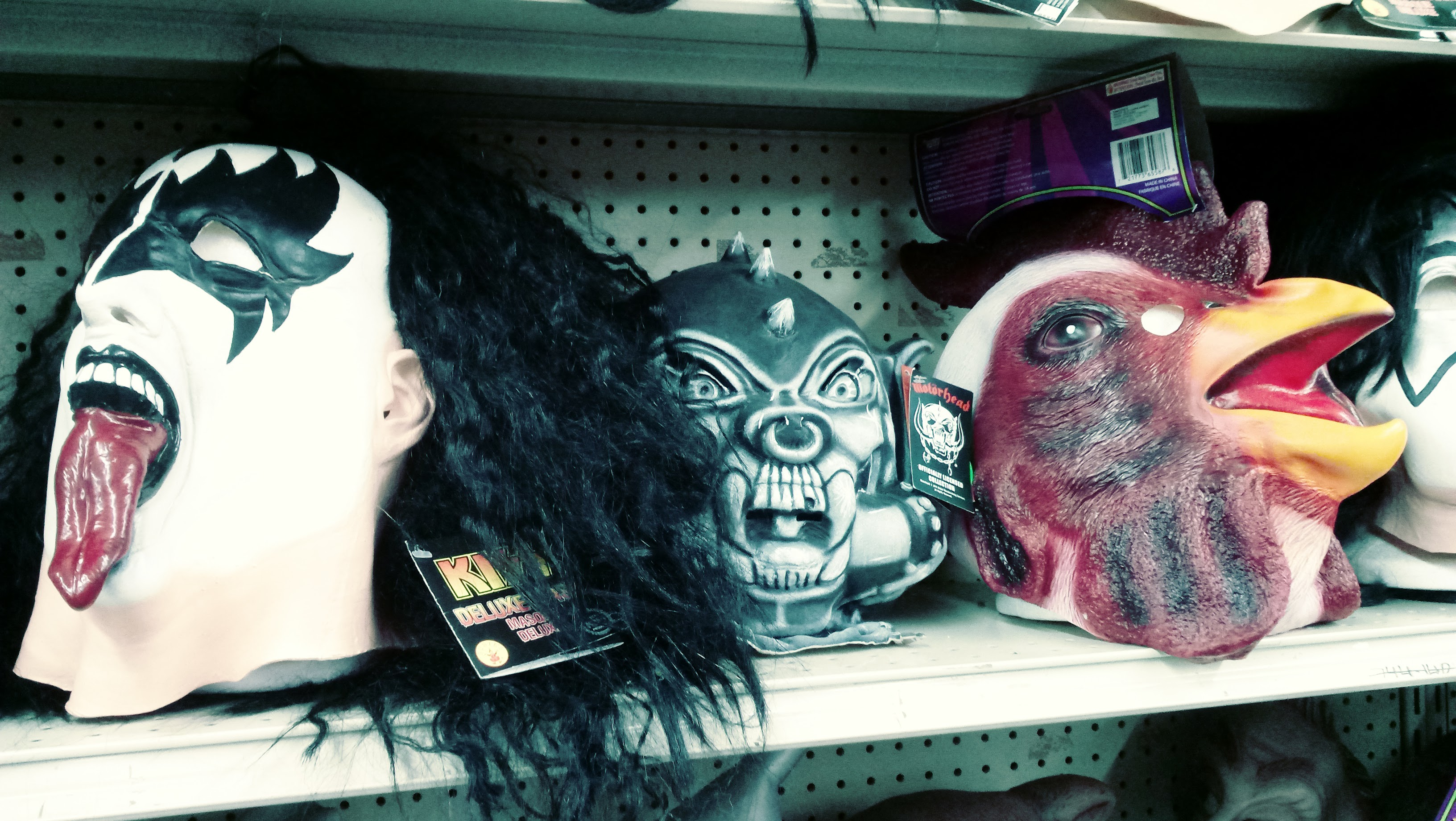 nick nackery gene simmons and motorhead and rooster masks