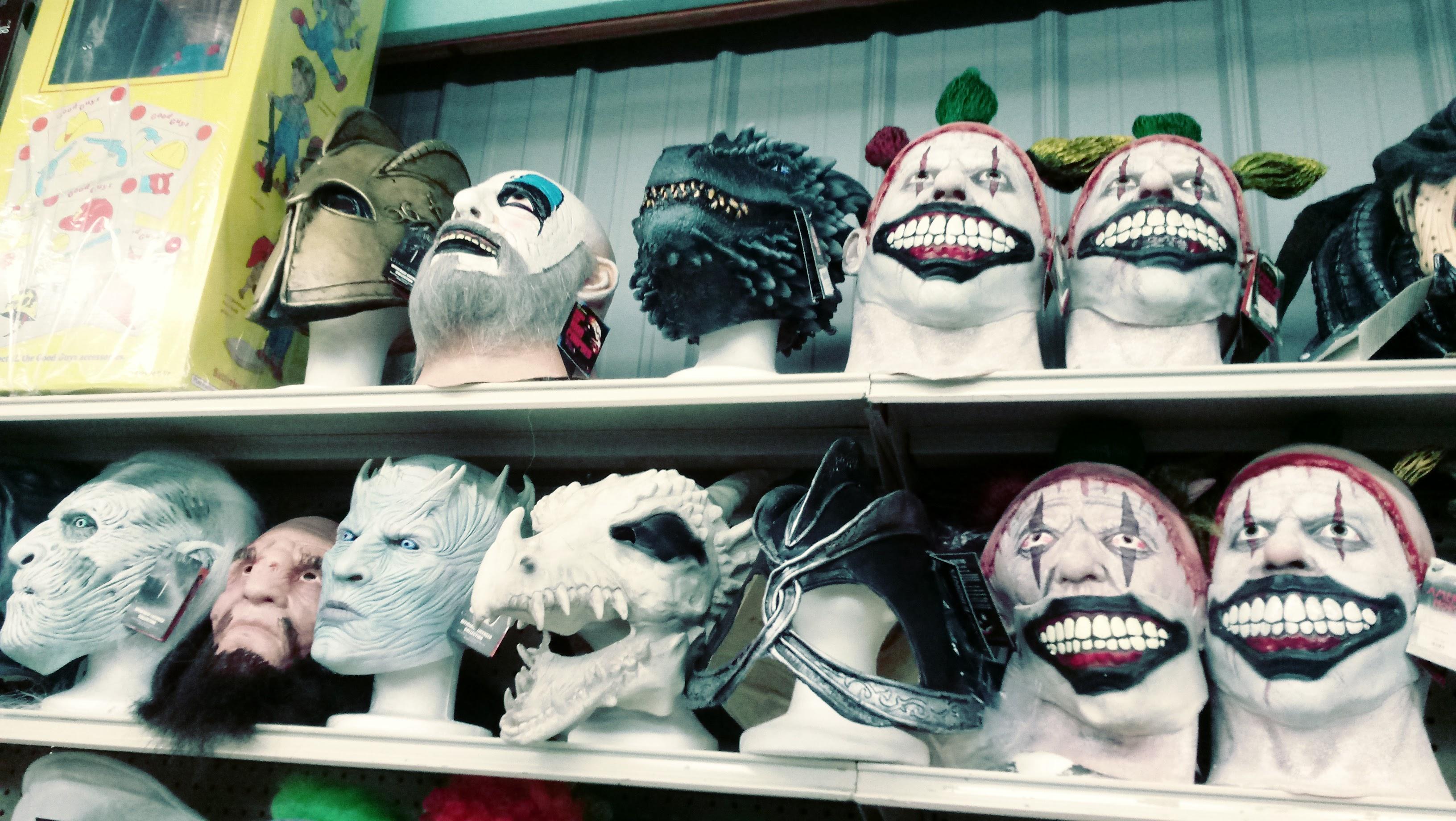 nick nackery whitewalker night king game of thrones knight monster creepy clown dragon masks