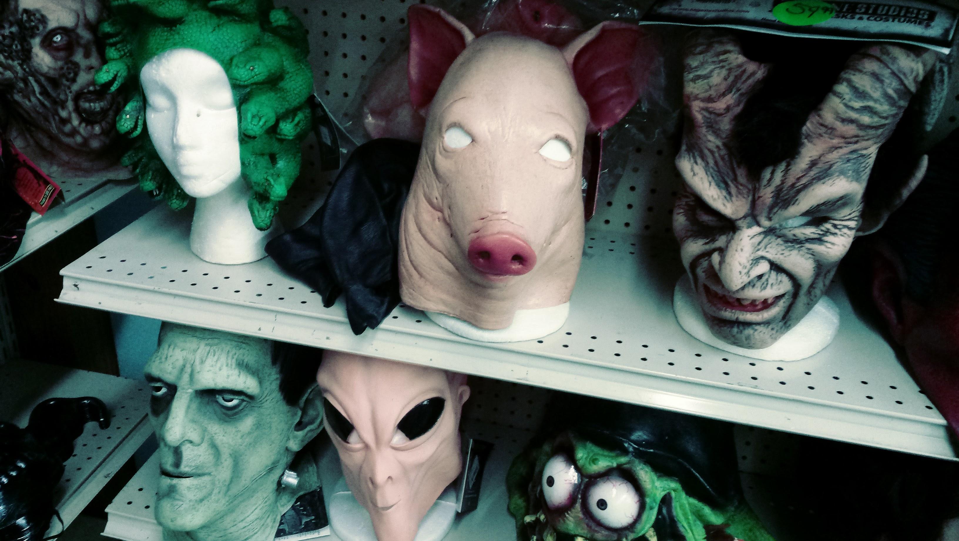 nick nackery alien frankenstein monster ratfink masks