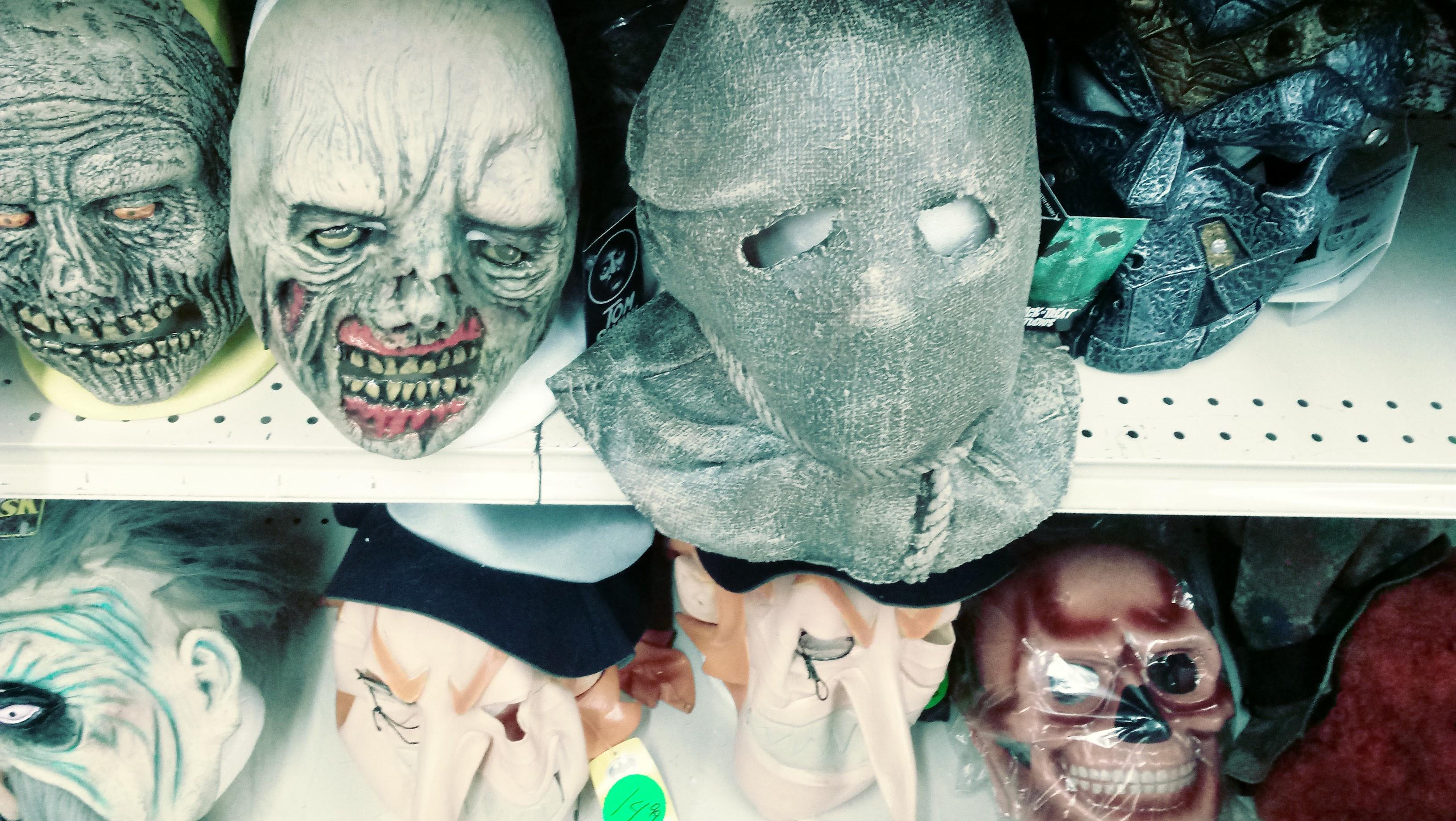nick nackery evil knight leprechaun scarecrow and zombie masks