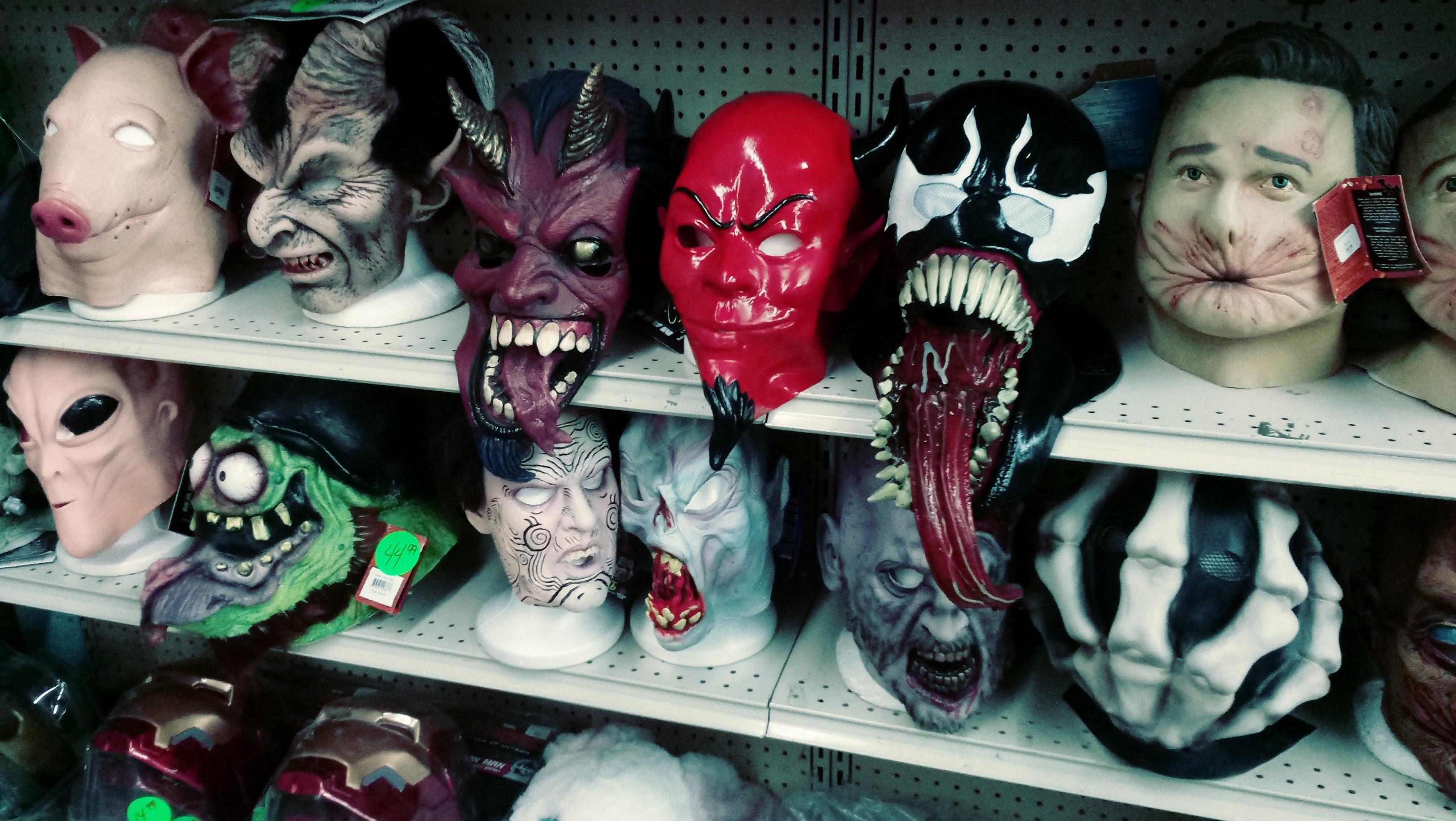nick nackery nosferatu screaming spawn venom satan devil pig ratfink buttface masks