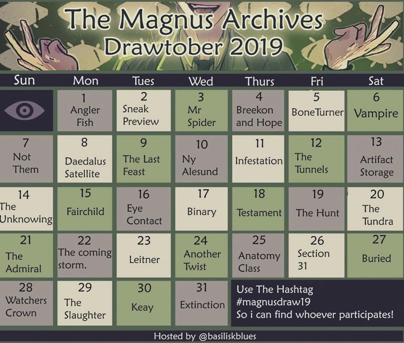 Magnus Archives Drawtober 2019