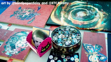 YART1019_booth-display-classic-monsters-trash-rose-buttons_sandpaperdaisy